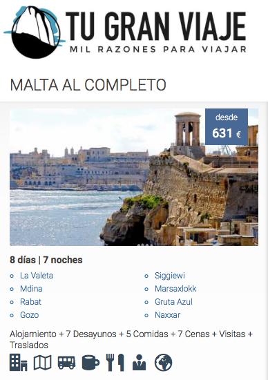 ofertas de viajes baratos a Malta   Tu Gran Viaje