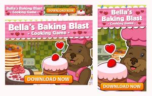 Bella's Baking Blast Mobile Game Ads