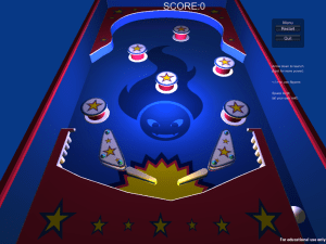 Prototype of the Pinball game
