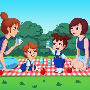 Mothers & Kids at the Picnic / Commission