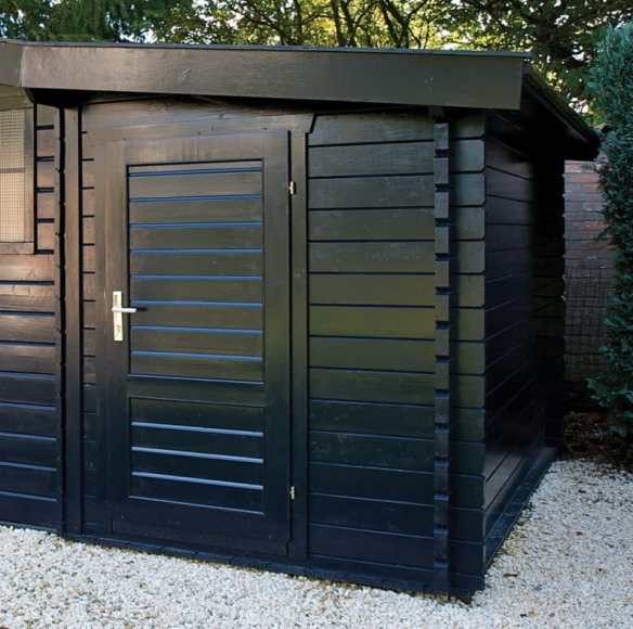 Shed extension for any log cabin