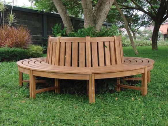 Hardwood Teak tree seat with 20% off the normal retail price for this week.