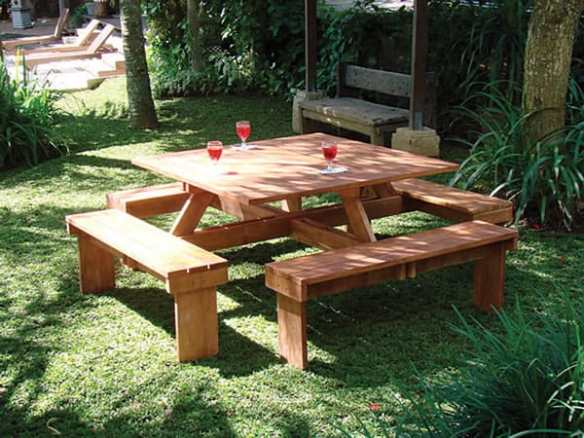 A firm favourite and great value for money. This hardwood picnic table will last for years.