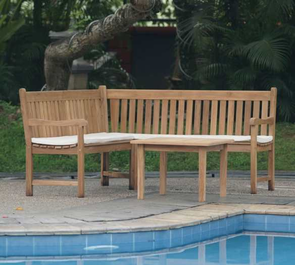 The new teak Corner Bench, The oxford