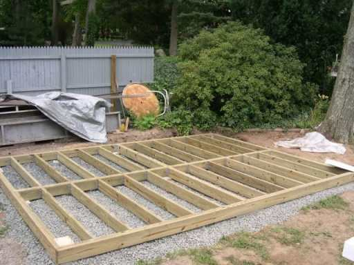 Timber frame on a bed of shingles