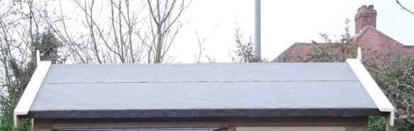 Shed felt roof - Horrible isn't it!