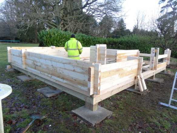 Further progress with the Edelweiss Log Cabin build