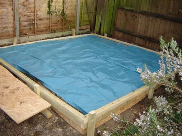 It is a good idea to incorporate a damp proof membrane within your base