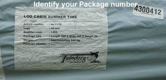 Identify your package number before installation and make a note of this.