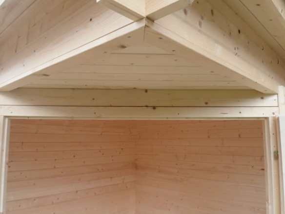 We will often trim to make things look nicer and further enhance the building. Sometimes we will also trim around the purlins and eaves.