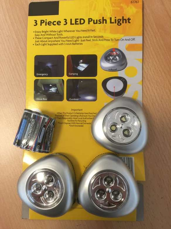We send you this Three Piece LED light set as a thank you when you write a review on products you have bought.