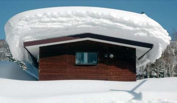 Extreme snow loading perhaps but it is something to consider!