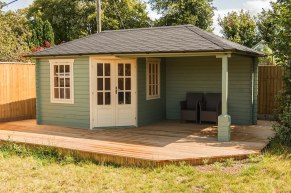 Rianne log cabin with gazebo