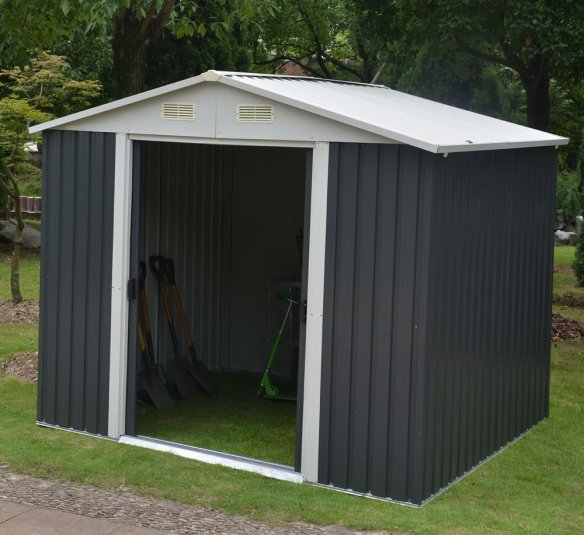 Metal sheds with a low price are designed for storage and price, they are not designed for security