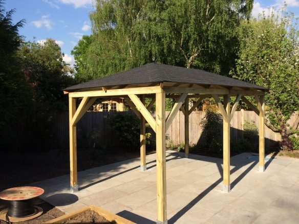 It's not just log cabins and Philip is very experienced in installing our gazebos. This is the Grande Gazebo.