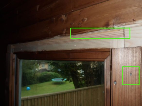 Timber insert placed in the expansion gap