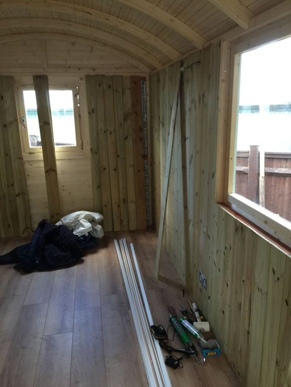 Tongue and groove timber lining - we can also supply lining boards of 18mm and 27mm if asked.