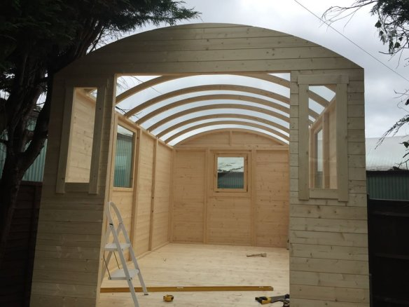 Roof hoops are fitted