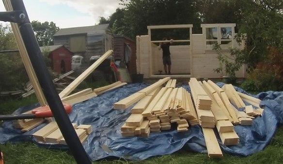Stian log cabin build