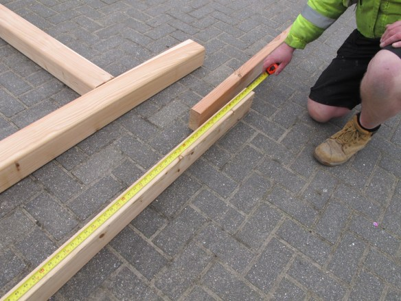 Measure the beams carefully against the plans and check they are in the right position.