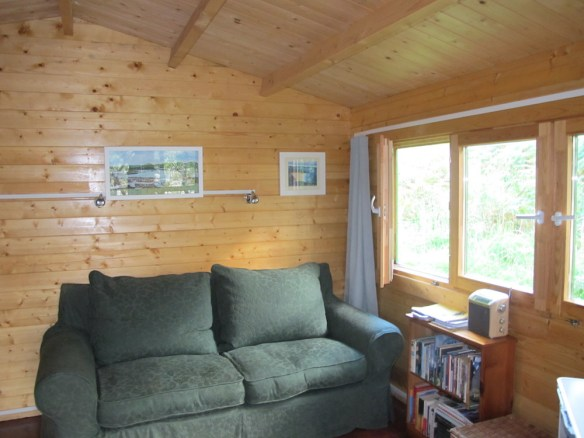 Fully kitted out inside for a family of four to enjoy their glamping on their own private island.