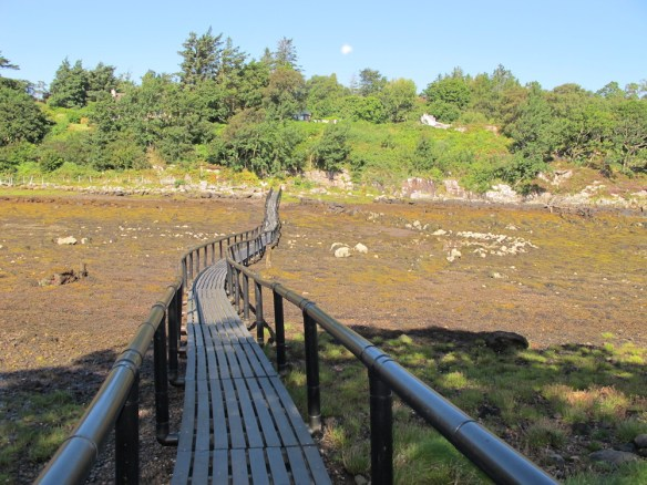 Bridge to the Island at low tide