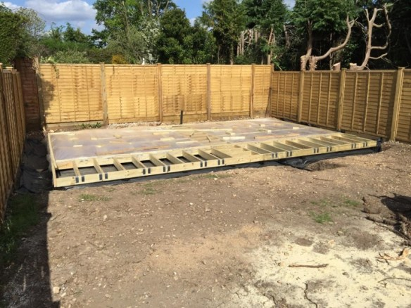 Foundation framework all done – so just need some cabins to put on them.