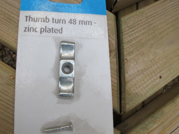 An ideal solution to a warp or bow in your door, I call them turn buttons but they are also referred as a thumb button