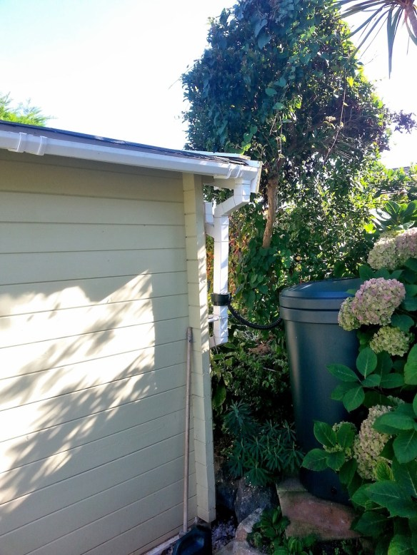 Guttering added by Mr F. We also offer guttering kits but this looks a great install as well. Guttering is important to use with your log cabin, whether from us or other suppliers - it is often overlooked but like your house it does make a difference to longevity.