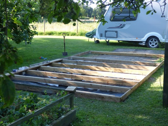 Timber Frame base being used for Mr W's log cabin
