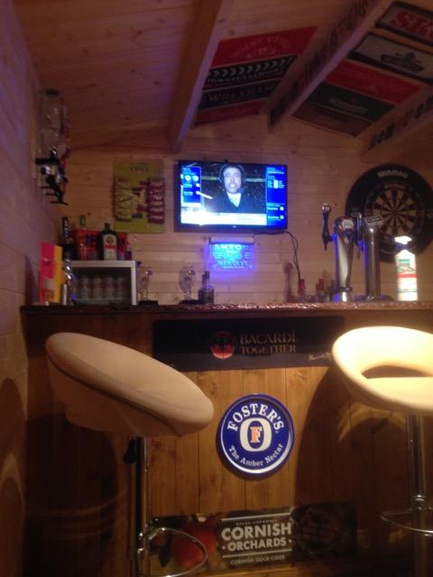 Aiste log cabin bar
