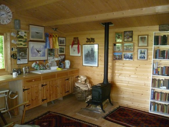 Very cozy extra accommodation, this is the Henning log cabin and highly suitable for year round use.