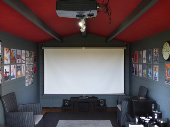 The Julia Log cabin is very versatile being 40mm. One moment its a nightclub the next a cinema.