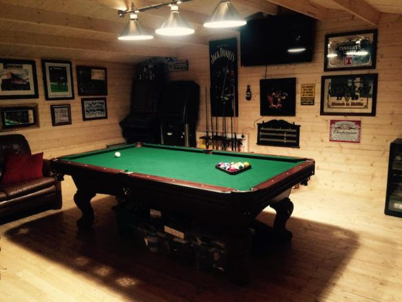Now this I love! Ever fancied your own Pool or Snooker room? This is the Truus Log Cabin being used for this purpose.