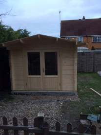 The Fully Installed Log Cabin!