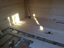 Cabin Flooring Start