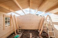 Gunda Roof Halfway Completed