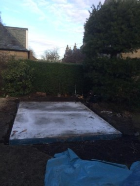 Concrete Base Completely Dry