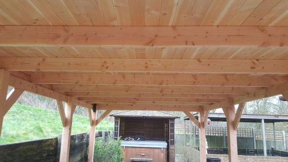 Completed Larch Roof Boards