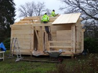 Edelweiss Log Cabin Roof Board Installation