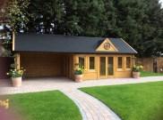 A Treated Ben Clockhouse Log Cabin
