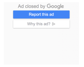 Display Ad Closed Example