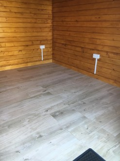Laminate Flooring in a Log Cabin