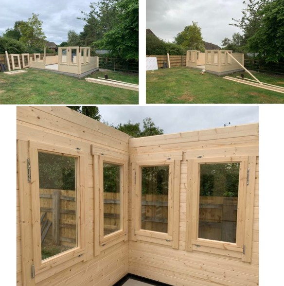 Clockhouse Log Cabin Installation