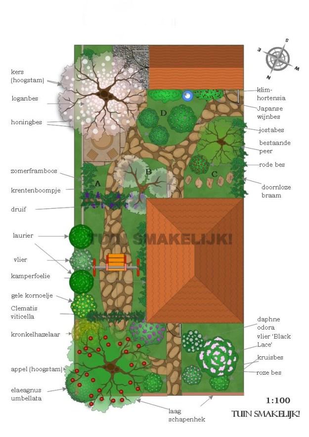 Voorbeeld ontwerp eetbare permacultuurtuin