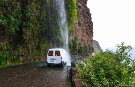 Ponta do Sol waterfall, Madera, Madeira, wodospad