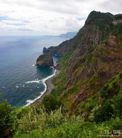 Santana, Madera, Madeira, kolej linowa z klifu, teleferico Santana