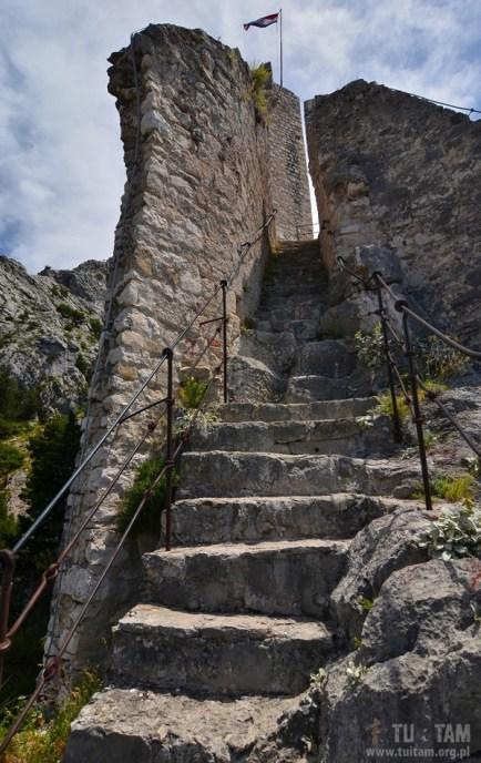 Omis - wyjście na wieżę