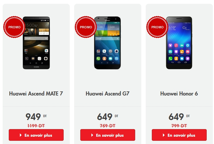promotion sur des smartphones huawei chez ooredoo. Black Bedroom Furniture Sets. Home Design Ideas