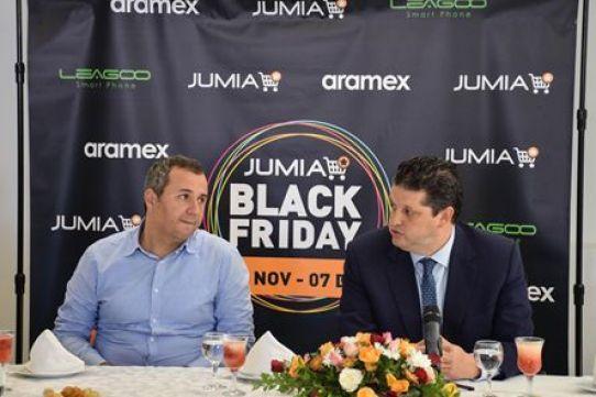 Omar BAHI - Ministre du commerce à droite  Monsieur Elyes JERIBI - CEO Jumia à gauche